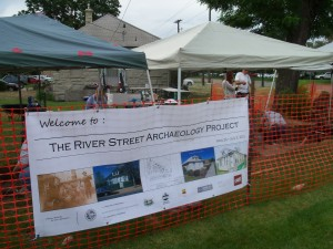 Summer digging at the River Street Archaeology Project